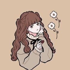 Savage Girl, Girls With Flowers, Aesthetic Drawing, Gods And Goddesses, Earth Tones, Webtoon, Drawings, Persona, Illustration