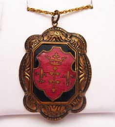 Vintage English Crest Victorian Revival Necklace by KlinesJewelry