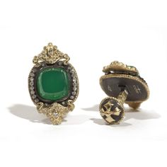 Armenta Cushion Cut Green Onyx Diamond Cufflinks . . . . . der Blog für den Gentleman - www.thegentlemanclub.de/blog