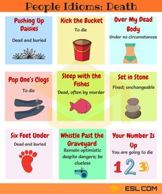 Idioms Related to Death