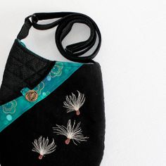 Small Shoulder Bag Quilted Fabric Purse with by seablossomdesign, $59.00