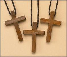 Wood Cross Pendant