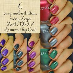 Lydia's Nails: Matte and Glossy Nail Art with Zoya Matte Velvet