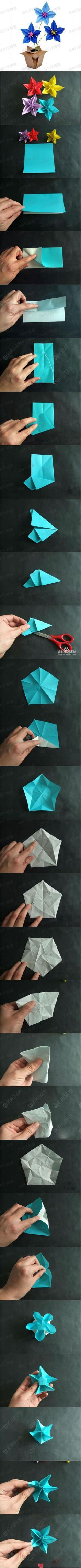 More origami flowers! yes yes