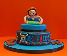 One piece… one cake! Cupcakes, One Piece, Monkey, Concept, Birthday, Desserts, Kids, Baby, Food