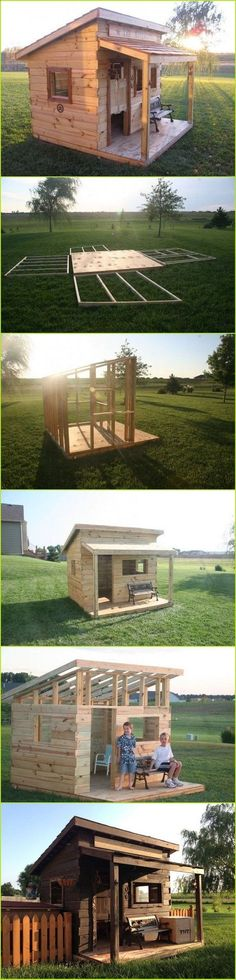 Shed Plans - DIY Kids Fort which could be readily altered to make a nice LARP or Ren Faire building. - Now You Can Build ANY Shed In A Weekend Even If You've Zero Woodworking Experience! #diyshedplans #furnitureplans