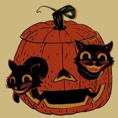 A Vintage Halloween Art Rush Post