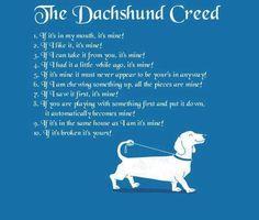 The Dachshund Creed