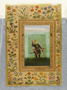 'abdullah khan firoz jang with the head of khan-i jahan lodi; painted by abu'l hasan. Mughal Miniature Paintings, Mughal Paintings, Medieval Manuscript, The V&a, Islamic, Architecture Design, Period, Miniatures, Walls