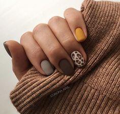 PINTEREST:✨ anastasijaboshnakoska Leopard Nails, Nail Polish Designs, Nail Art Designs, Hot Nails, Hair And Nails, Minimalist Nails, Nail Jewelry, Manicure Y Pedicure, Nail Care