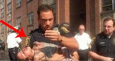 Cop Rescues A Five-Year-Old From A Blazing Fire. Then He Turns Round And Realizes...