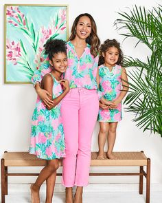 Mother Daughter Dresses Matching, Beach Accessories, Everyday Dresses, S Girls, Mommy And Me, Lilly Pulitzer, Girl Outfits, Girls Dresses, Pineapple Shake