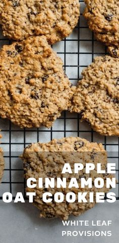 These organic apple cinnamon oat cookies are sure to satisfy your sweet tooth!  A delicious and healthy treat loved by your entire family (it's kid approved!).
