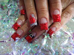 Love the santa nail