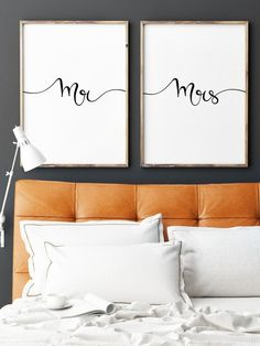 Mr and Mrs Print Bride to Groom Gift Gifts for by printabold