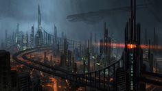 Cyberpunk, Neo Mordor by e-mendoza on deviantART