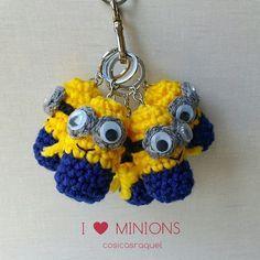 Llavero Minion Crochet | Aprender manualidades es facilisimo.com