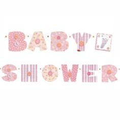 Baby Shower Girl Stitches Jointed Banner (4ft) [BSH1661 ] - £1.58 : Baby Shower Host