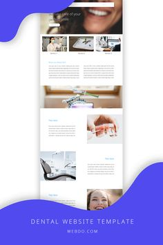 WebDo - The All-In-One Website Design Solution. Use the dental website template to create your website today.