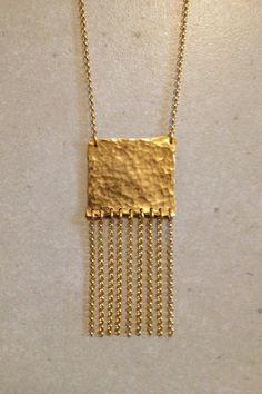 Hammered Gold Necklace Hammered Gold, Handmade Jewelry, Gold Necklace, Free Shipping, Etsy, Gold Pendant Necklace, Gold Bar Necklace, Diy Jewelry, Craft Jewelry