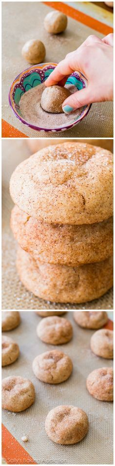 Soft, chewy, and super thick Snickerdoodle Cookies with lots of cinnamon-sugar flavor. Only 25 minutes to make them!