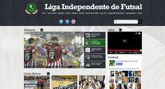 sites desenvolvido pra liga independente de futsal