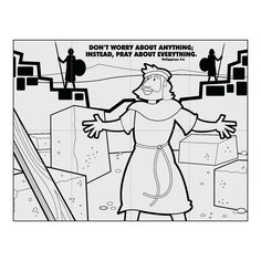 Maze and Story Nehemiah Walls of Jerusalem – Kids Korner