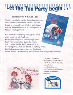 Summary of A Royal Tea (Mermaid Tales #9 from Simon and Schuster) by author Debbie Dadey www.debbiedadey.com