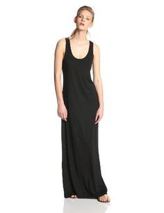 Jersey knit tank maxi dress