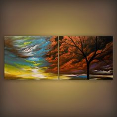 art abstract painting canvas wall art xl canvas by mattsart, $375.00