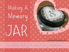 Making a Memory Jar