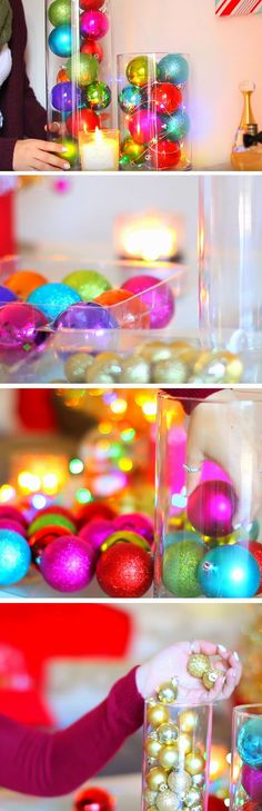 Ornament Vases | 20 DIY Christmas Bedroom Decor Ideas for Teen Girls