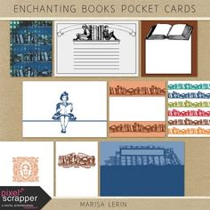 Enchanting Books Pocket Cards Kit | digital scrapbook | fall, books, fairy tale, project life, pocket scrapping, journal cards