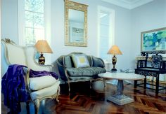 P Gaye Tapp Interior Design and Decoration. little French sitting room