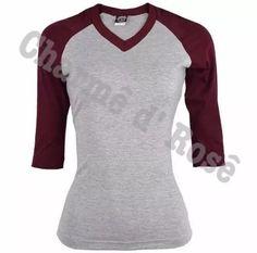 camisa camiseta blusa raglan 3/4 feminina