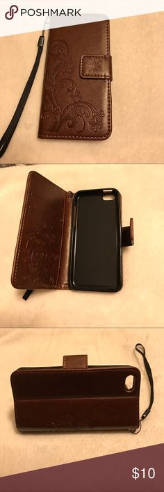 iPhone 5/5S case Leather and silicone wallet case, 2 slots for credit card and 1 slot for cash or bill, has a trap easy to carry. There are hot pink, brown, blue, black and grey colors. iPhone 5/5S/5C 6/6S 6/6Splus 7 and 7 plus. If you have any question, welcome to contact me. Accessories Phone Cases
