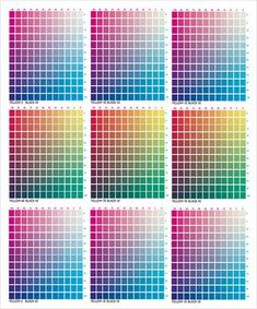Cmyk Color Chart For Illustrator Cmyk Color Chart Color Palette Challenge Pms Color Chart