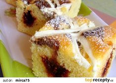 Jednoduché a rychlé těsto na koláč/řezy recept - TopRecepty.cz French Toast, Breakfast, Food, Morning Coffee, Meals, Yemek, Morning Breakfast, Eten