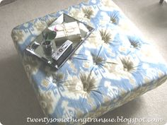 How to make an ottoman and upholster it (HoH103)