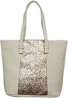 6df15353c1 LucieElle Sac Femme Cabas Paillettes Porté Epaule Format A4 Sac de Cours Sac  a Main 'Pearl' (BEIJE): Amazon.fr: Chaussures et Sacs