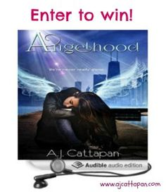 A.J. Cattapan is giving away five copies of the audiobook of Angelhood. Enter to win on her website. Just click the link above!
