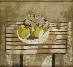 Ben Nicholson 1926 (Still Life with Fruit – Version Picasso And Braque, Pablo Picasso, William Nicholson, Francis Picabia, Still Life Fruit, Renaissance Artists, Georges Braque, Abstract Painters, Art Uk