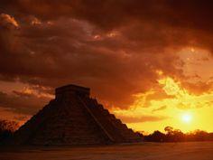 The Castle (El Castillo), Also Known as Pyramid of Kukulcan, Chichen Itza, Mexico