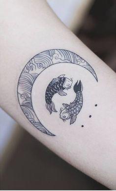 koi fish tattoo on wrist