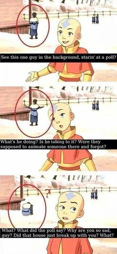 Browse the best of our 'Avatar: The Last Airbender / The Legend of Korra' image gallery and vote for your favorite! Avatar Airbender, Avatar The Last Airbender Funny, Avatar Funny, Avatar Aang, Make Avatar, Team Avatar, Funny Memes, Hilarious, Jokes