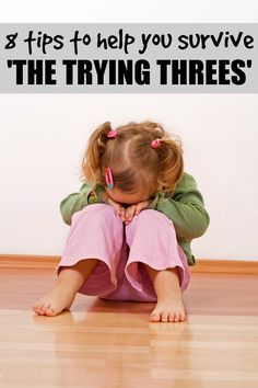 8 tips to help you survive 'The Trying Threes.' So far things haven't been too rough, but these are great ideas that address needs every child has. I would add one or two things of my own, but otherwise it's a good list. Good to be reminded of them.