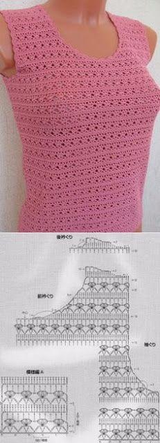 Letras e Artes da Lalá: Blusas de crochê (pinterest - desconheço a autoria dos trabalhos)