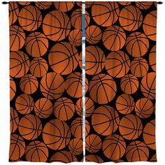 Custom Window Curtain Basketball Theme Any Size By Redbeauty