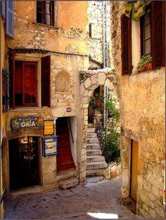 Medieval Village. Tourettes sur Loupe. France.