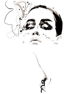 Art Deco inspires #AW2012 by illustrator David Downton